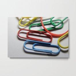 paper clips Metal Print
