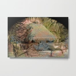 Mexico Hut Strong oils Metal Print