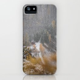 Burried in snow iPhone Case