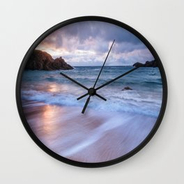 Sunset ocean Wall Clock