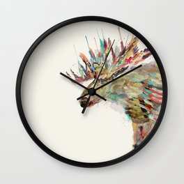 into the wild the moose Wall Clock