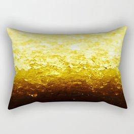 Golden Yellow Ombre Crystals Rectangular Pillow