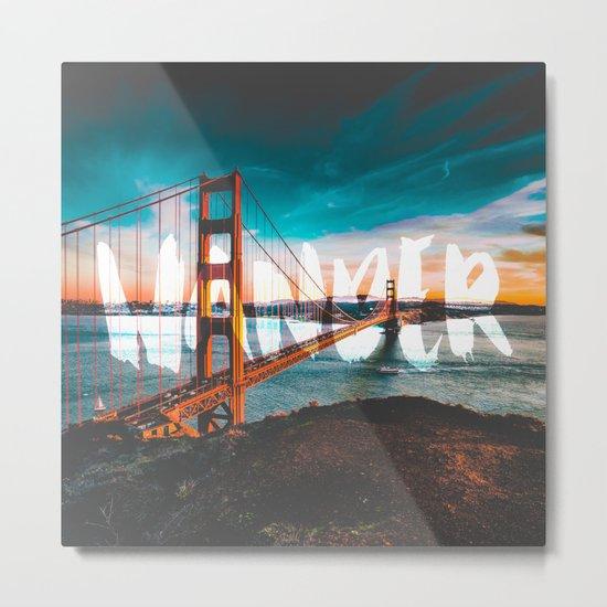 Wander Golden Gate Bridge Metal Print