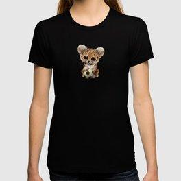 Leopard Cub With Football Soccer Ball T-shirt