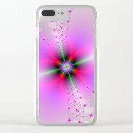 Floral Sprays in Pink and Green Clear iPhone Case