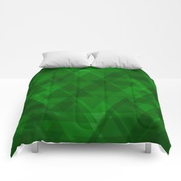 Bright green triangles in intersection and overlay. Comforters