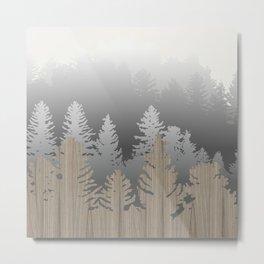 Treescape Large Square Metal Print