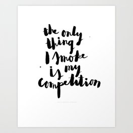 Sophia Amoruso #GIRLBOSS Quote (White) Art Print