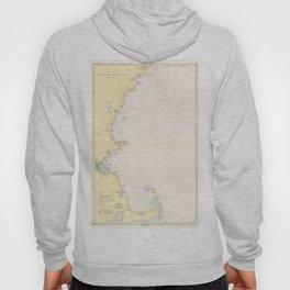 Vintage Map of The New England Coastline (1942) Hoody