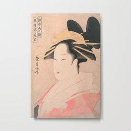 Vintage Japanese Geisha Portrait VII Metal Print