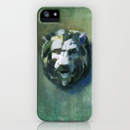 Lion Head Green Marble iPhone Case