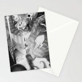 """Alice and the Jabberwocky"" or ""The Insanity Dragon"" Stationery Cards"