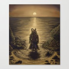 The Octopus Man Rises Canvas Print