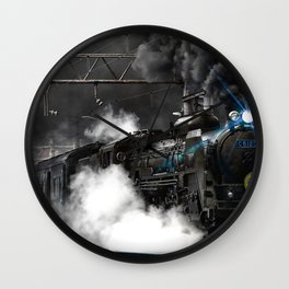 Steam Train Wall Clock