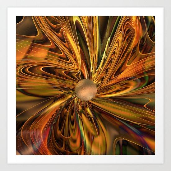 Fractal Flower 2 Art Print