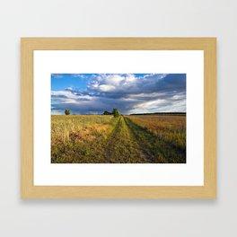BLUE CLOUD DRAMA Framed Art Print