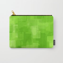 green and dark green square pattern abstract background Carry-All Pouch