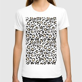 Leopard Animal Print Watercolour Painting T-shirt