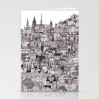 prague Stationery Cards featuring Prague by Justine Lecouffe