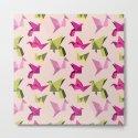 pink paper cranes by nerdydirty