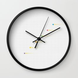Checked Pattern_L Wall Clock