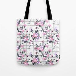 Elegant blush pink violet gray floral geometrical Tote Bag