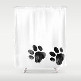 Cat's footprints Shower Curtain