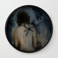imagerybydianna Wall Clocks featuring walking through mirrors by Imagery by dianna
