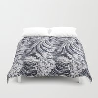 lace Duvet Covers featuring WHITE LACE by BellagioVista
