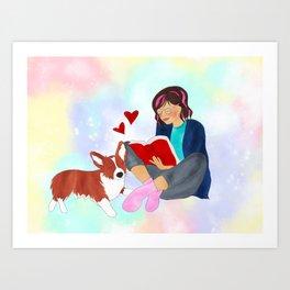 Book Girl Art Print