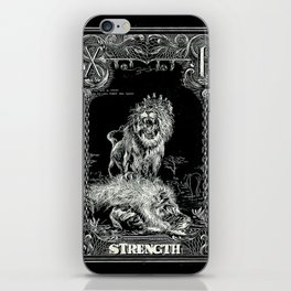 STRENGTH of Tarot Cat iPhone Skin