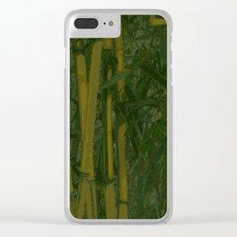 Bamboo jungle Clear iPhone Case