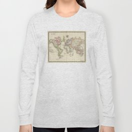 Vintage Map of The World (1844) Long Sleeve T-shirt