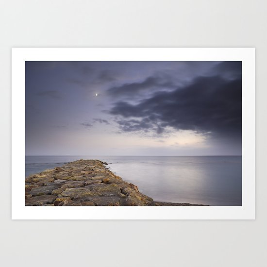 The way to the moon Art Print