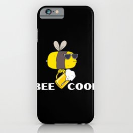 Bee Drunk, be cool, Coole Biene iPhone Case