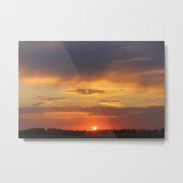 sundown sundown sunset Metal Print