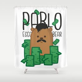 Pablo Escobear Shower Curtain