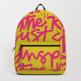 Inspiration is for amateurs x typography Backpack