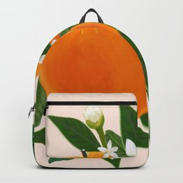 Fruits Orange and Flowers Pattern Backpack