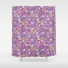 Proud To Be a Nurse Pattern / Purple Shower Curtain