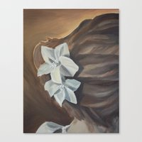 bride Canvas Prints featuring Bride by Lark Nouveau Studio