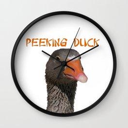 Peeking Duck Homonym Wall Clock