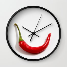 Curve Chili Wall Clock