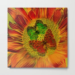 The flower of Love  (This Artwork is a collaboration with the talented artist Agostino Lo coco) Metal Print