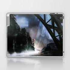 Forest Bridge Ocean - Ghost of Haunted Heceta Head Lighthouse Laptop & iPad Skin
