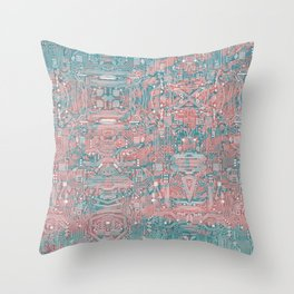 Circuitry Details 2 Throw Pillow