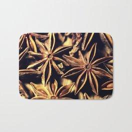 Star Anise Texture Bath Mat