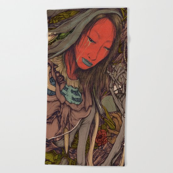 under beauty { Angels } Beach Towel