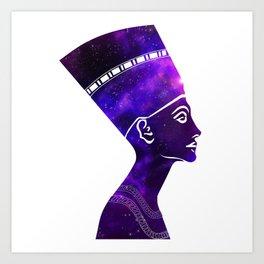 Queen Nefertiti Nebula Galaxy Art Print