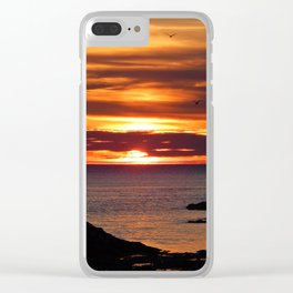 Sunrise Flight  Clear iPhone Case